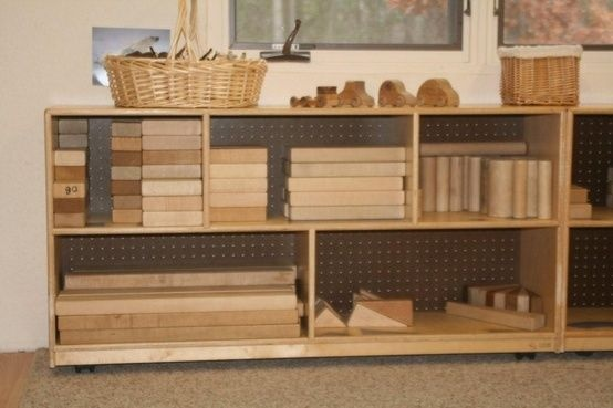 Classroom Block Design ~ This block area is great for storage and organization
