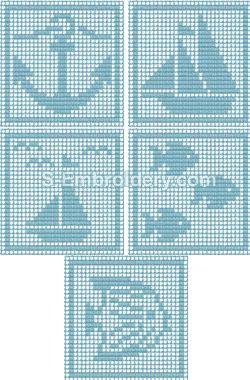 Freestanding lace crochet square machine embroidery designs