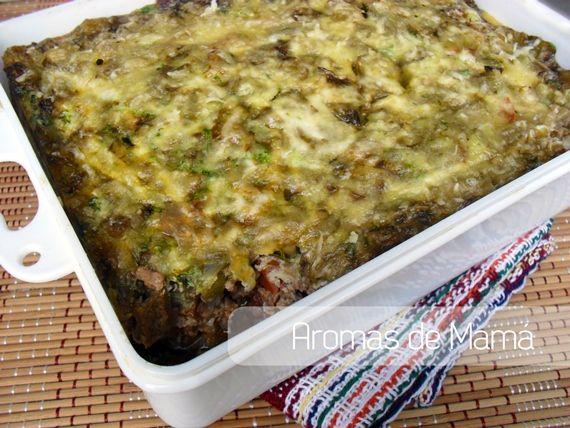 Pastel de berenjenas y carne ~ Aromas de Mamá   Recetas de Cocina   aromasdemama.com
