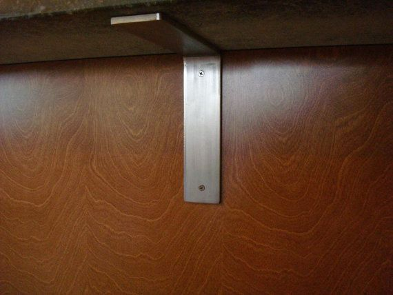 Brushed stainless steel countertop corbel support bracket for Modern corbels for granite countertops