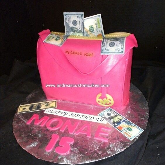 Mk Michael Kors Cake Birthday Cakes Pinterest