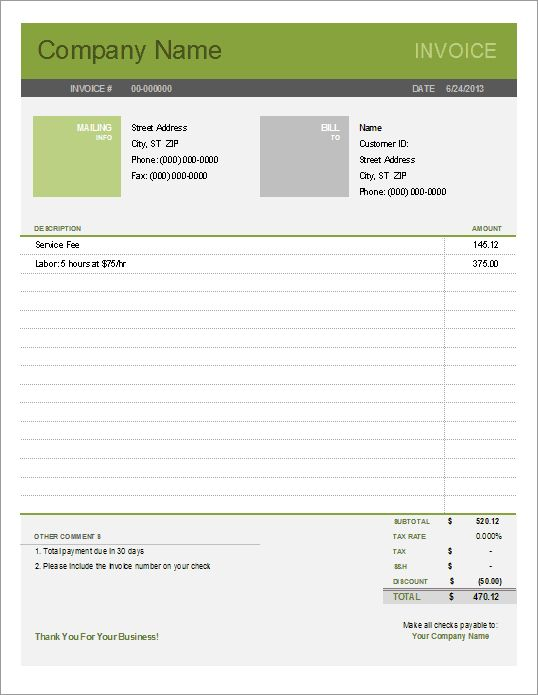 Make Your Own Invoice Free Best Receipt Template Images On - Make your own invoice template free
