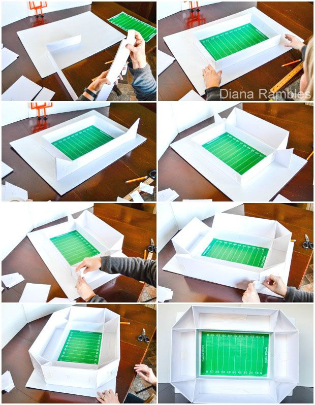 DIY Game Day Football Snack Stadium with Free Printables