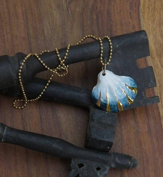 NaniByEttyVardi OnEtsy- Spring Collection 2018 Ceramic Jewelry, Ceramic Jewelry, Ceramic Necklace, Porcelain Jewelry, Gold Dipped, Beach Necklace, Luxury Style, under 100, Unique Style