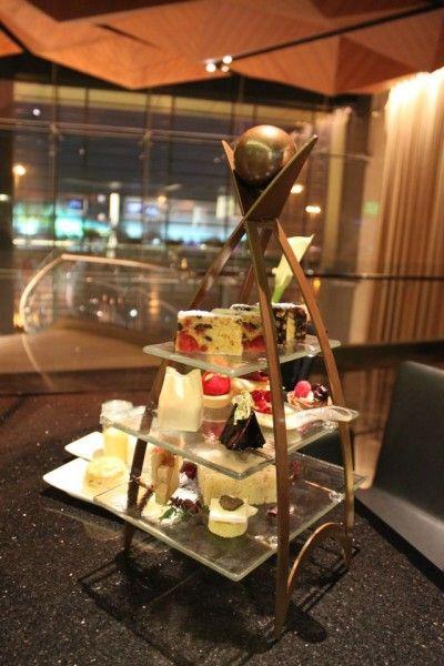 Custom made high tea stand. By Glass Studio for Kempinski Grand & Ixir Hotel Bahrain