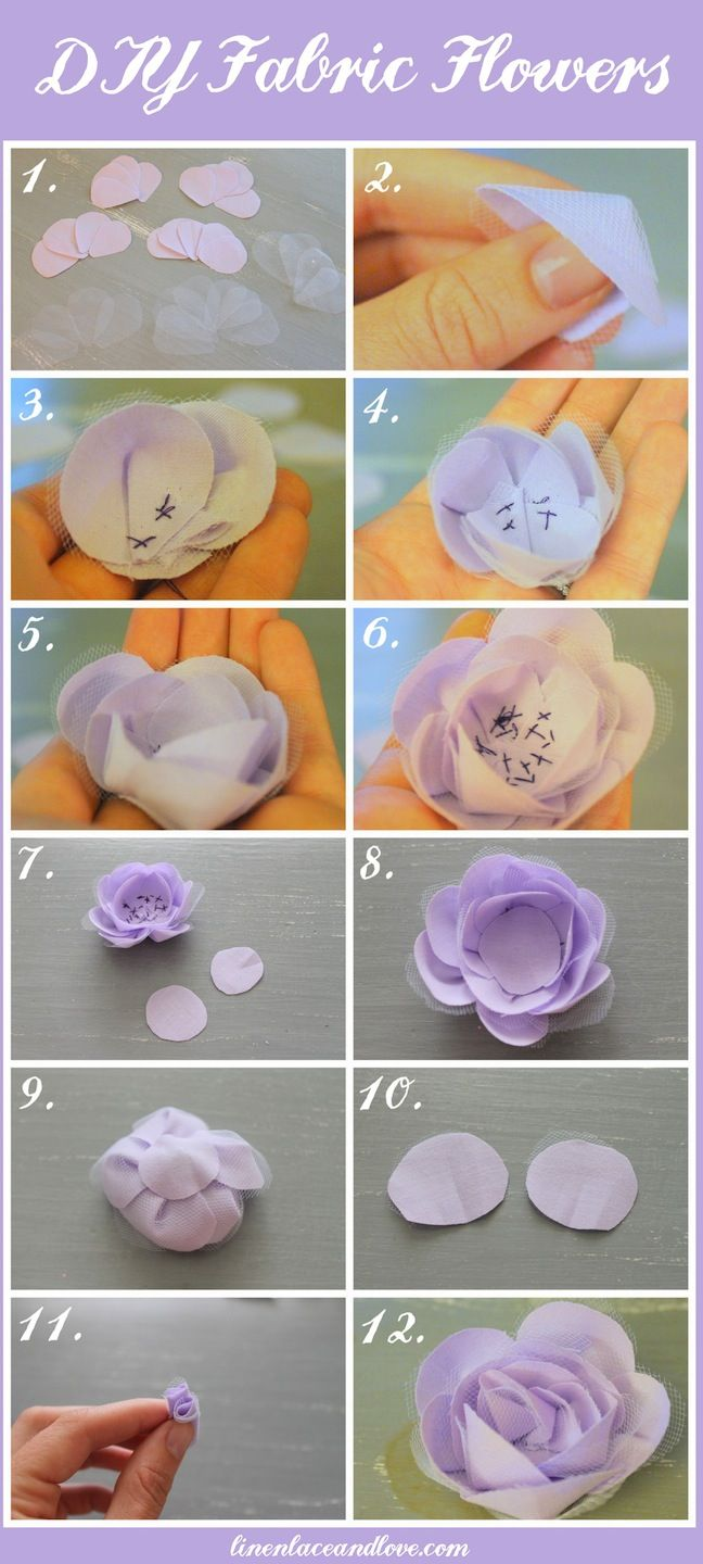 Linen, Lace, & Love: DIY Fabric Flowers