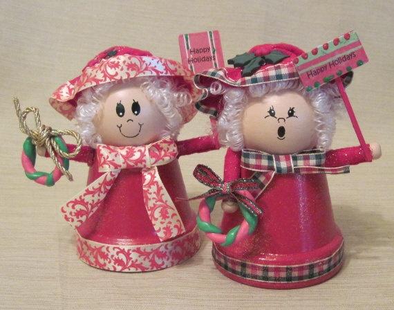 Clay Pot Mrs Claus