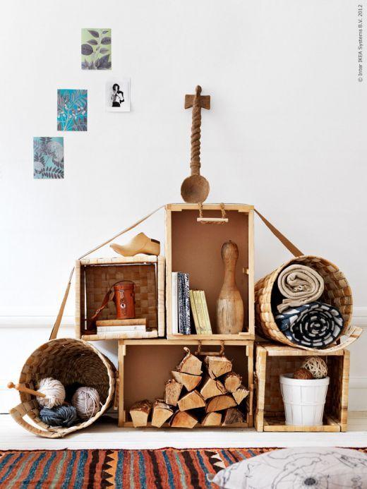 Inspiration Board: DIY Shelves using Baskets & Crates « Karboojeh ♥ Handmade