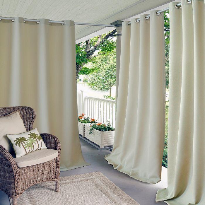 Connor Solid Indoor Outdoor Window Curtain For Patio Pergola Porch Cabana Deck Lanai Elrene Home Fashions In 2020 Indoor Outdoor Curtains Outdoor Curtain Panels Patio Curtains