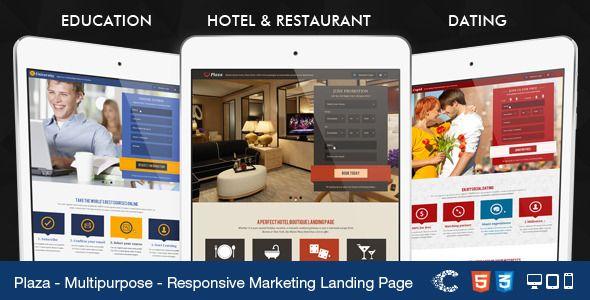 Plaza - Education - Hotel - Dating Landing