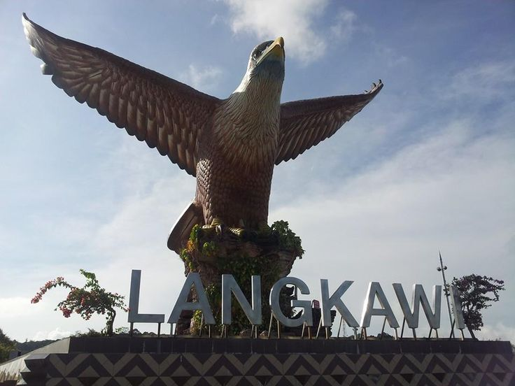Dataran Lang is one of Langkawi's best known manmade attractions, a large sculpture of an eagle poised to take flight. A sight that greets visitors to the island via ferry, the 12 metre-tall statue is one of the island's most instantly recognizable monuments. #langkawi #malaysia #eagle #sculpture #travel #tourism #wanderlust