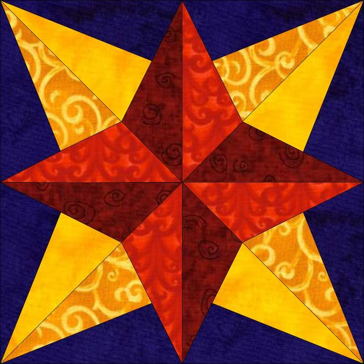 Block of the Week from 2010 from DreamCastle Quilts - Freedom Stars - 50 PDF directions, some with paper pieced patterns.