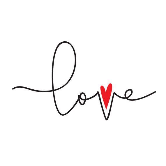 Love temporary tattoos heart valentine gift