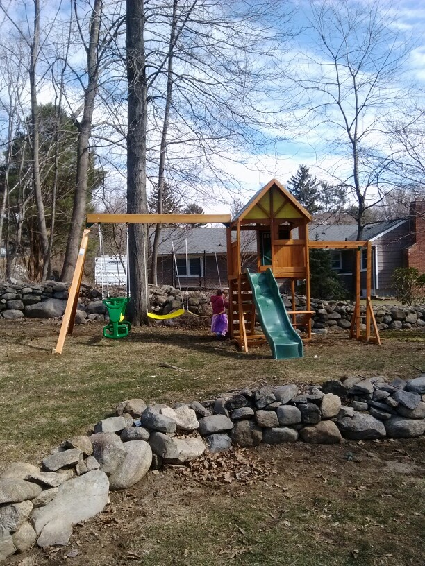 big backyard westchester playset from toys r us installed in mahwah