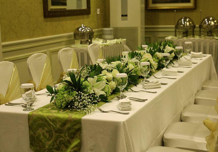 Rangkaian bunga VIP, long table