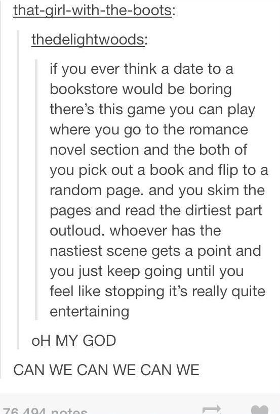 NO BUT do it to find a romance monologue and then read them to each other in a super dramatic way - whoever's is sweeter wins!