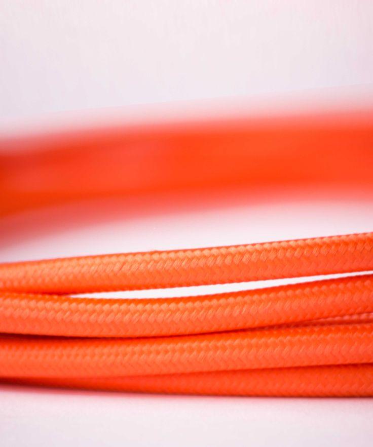 Vintage Fabric Electric Cable - Orange - William&Watson