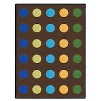 Joy Carpets Kid Essentials Early Childhood Lots of Dots Multicolor Nylon Rug (7'8 x 10'9)