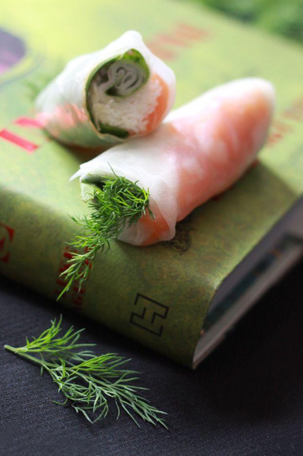 Salmon rolls // Rouleaux de saumon parfumés à l'aneth  www.fraise-basilic.com