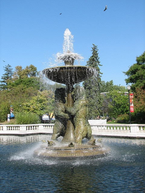 everyones got a pic infront of this fountain (detroit zoo)