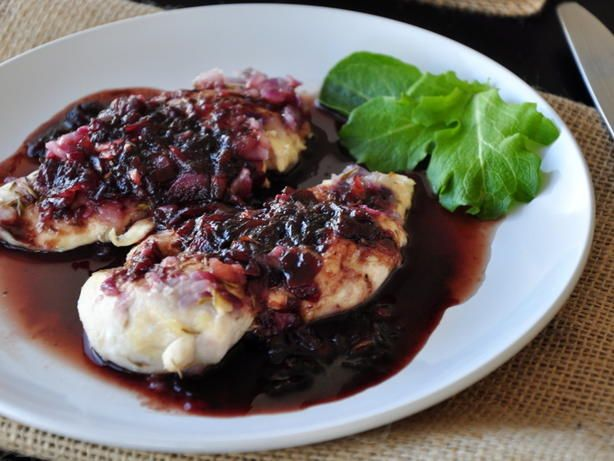 A light, fruity chicken dish, only 4 WW points, but you would never know. Other fruit preserves, such as apricot, blackberry, or peach will also work in this recipe.