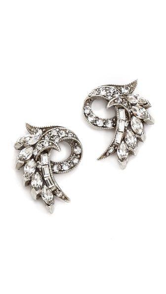 Shop now: Ben-Amun crystal fan earrings