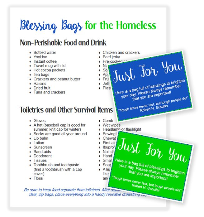 Blessing bags for the homeless are an easy way to give back to your community, not just during the holidays, but all year around.