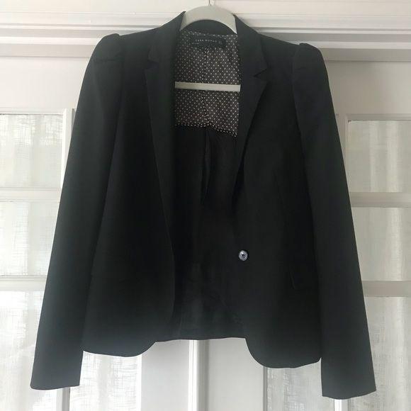 Zara Jackets & Blazers - Zara puff shoulder blazer jacket
