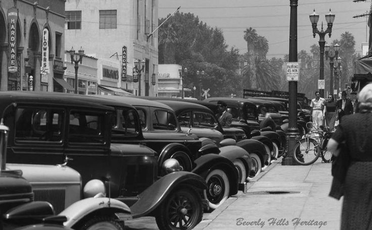Beverly Hills, 1939. North Beverly Drive and the west side of the 400 block.