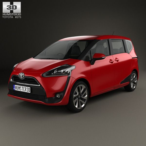 Toyota Sienta 2016 3d model from Humster3D.com.