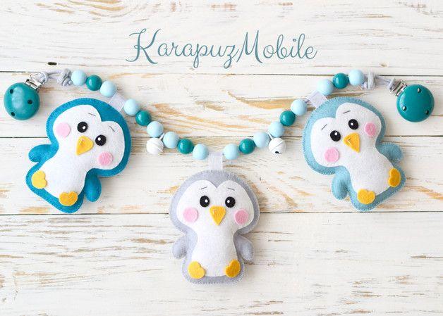 """Kinderwagenketten - Kinderwagenkette """"Penguine"""" - ein Designerstück von KarapuzBoutique bei DaWanda"""