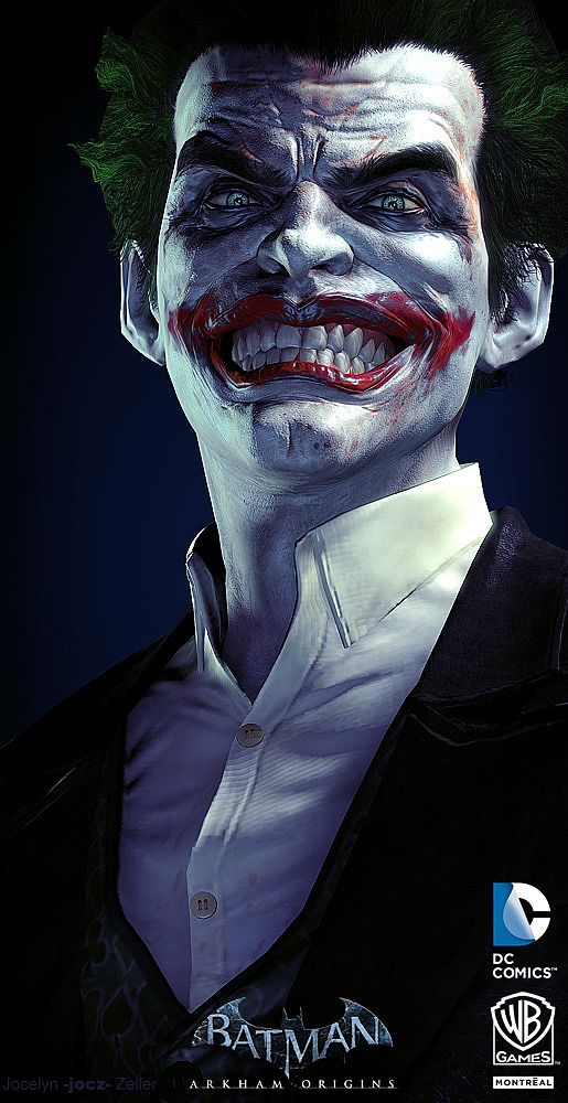 Joker Digital Art by Jocelyn Zeller : Source : http://www.inspirefirst.com/2013/12/03/digital-art-jocelynzeller/