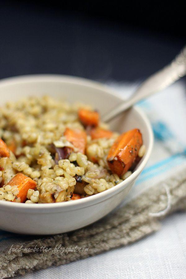 Feed Me Better: Pęczotto z pieczonymi warzywami.