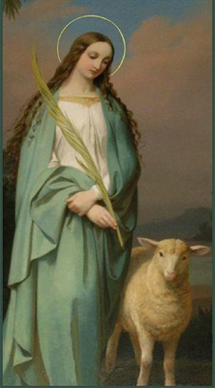 Saint Agnes of Rome. Virgin & Martyr. Patron saint for those with hair loss