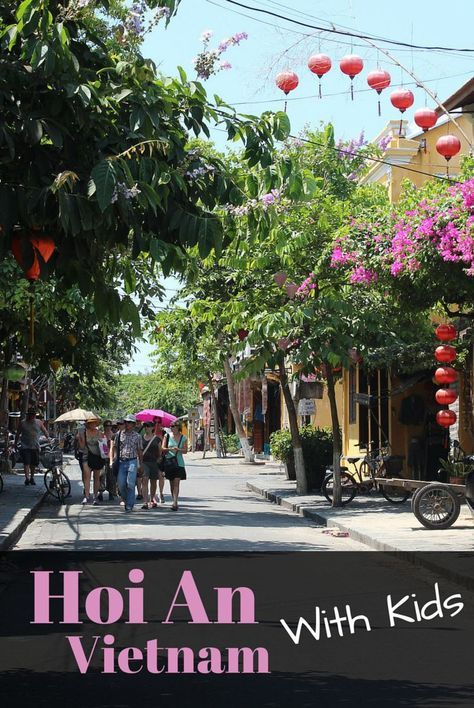 A round-up of the best things to do in Hoi An, Vietnam with Kids. Includes Farming & Fishing Tour, boat rides on the Thu Bon River, and taking a cyclo ride.
