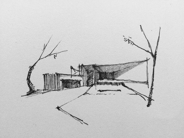 #project #design #architect #creato #facade #contemporary #luxe #sketch #villa  contacto@creatoarquitectos.com