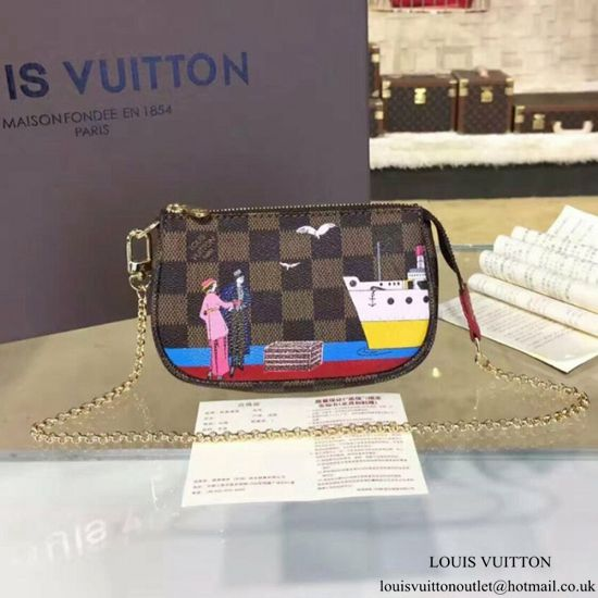 f1726caa36 Louis Vuitton N41667 Mini Pochette Accessoires Damier Ebene Canvas ...