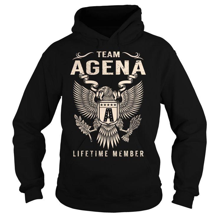 Team AGENA Lifetime Member ᐂ - Last Name, Surname ᗛ T-ShirtTeam AGENA Lifetime Member. AGENA Last Name, Surname T-ShirtAGENA