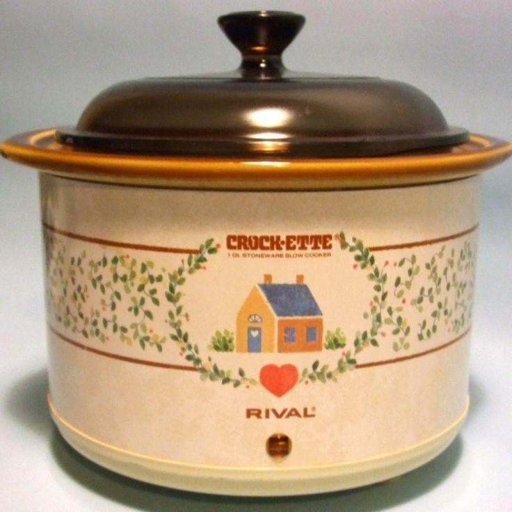 Vintage 1980s Rival Crock-Ette Small 1-Qt Slow Cooker/Crockpot. $24.99, via Etsy.
