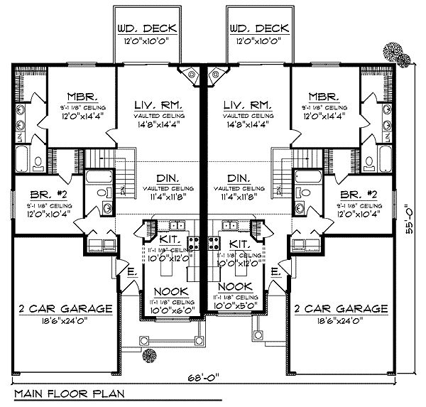 The 25 best duplex floor plans ideas on pinterest Duplex floor plans with garage