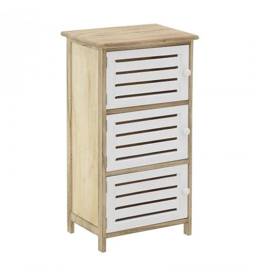 WOODEN CABINET IN WHITE_NATURAL COLOR 40X29X73
