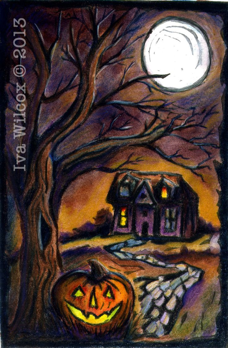 29 best Halloween watercolors & paintings by Iva Wilcox images on ...