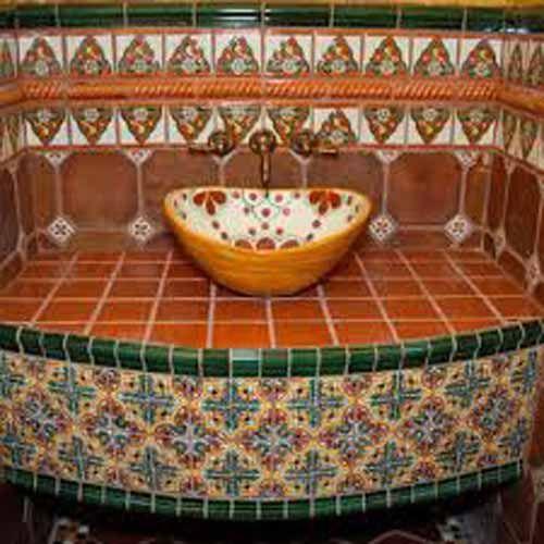 115 best bathroom mexican tile images on pinterest mexican tiles rh pinterest com mexican tile bathroom countertop ideas mexican tile bathroom designs