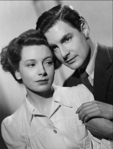 "Deborah Kerr and Robert Donat in ""Vacation from Marriage"" also titled ""Perfect Strangers"" (1945)."