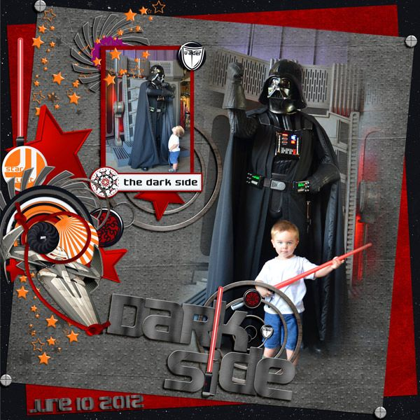 Darth Vader - Disney scrapbooking; layout by Chef Minnie Mouse