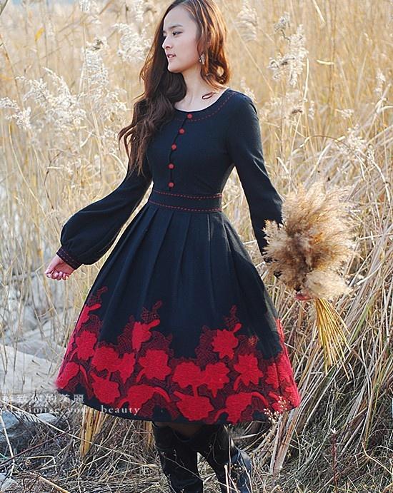 pretty autumn-y dress