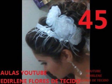 AULA 19: FLORES DE LARANJEIRA DE TECIDO, ARRANJO DE CABELOS E BUQUÊS DE NOIVAS (atendendo pedidos) - YouTube