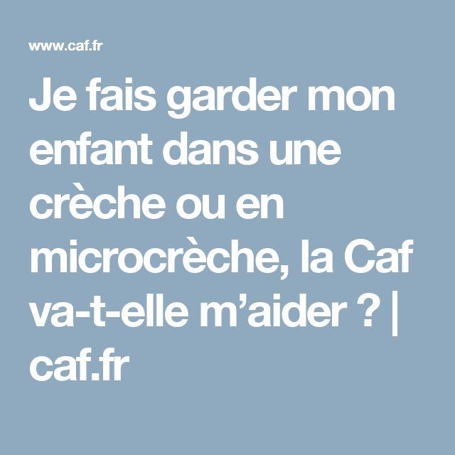Je fais garder mon enfant dans une crèche ou en microcrèche, la Caf va-t-elle m'aider ? | caf.fr