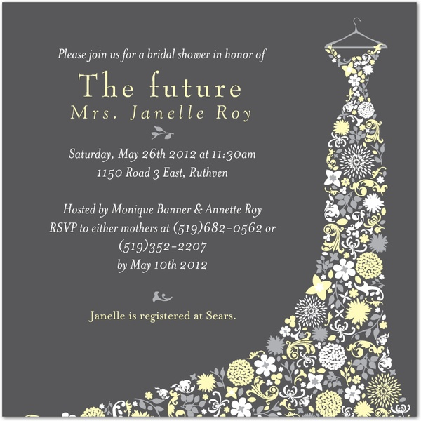 Wedding shower invitation...