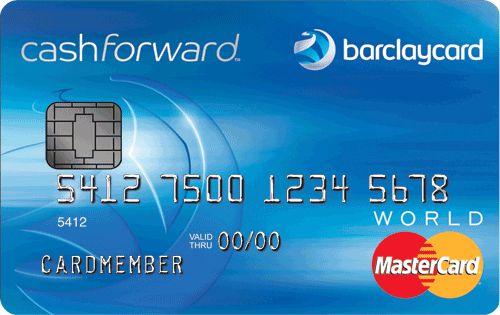 Barclaycard CashForward™ World MasterCard<sup>®</sup>